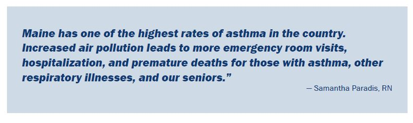 asthma rates are high in Maine