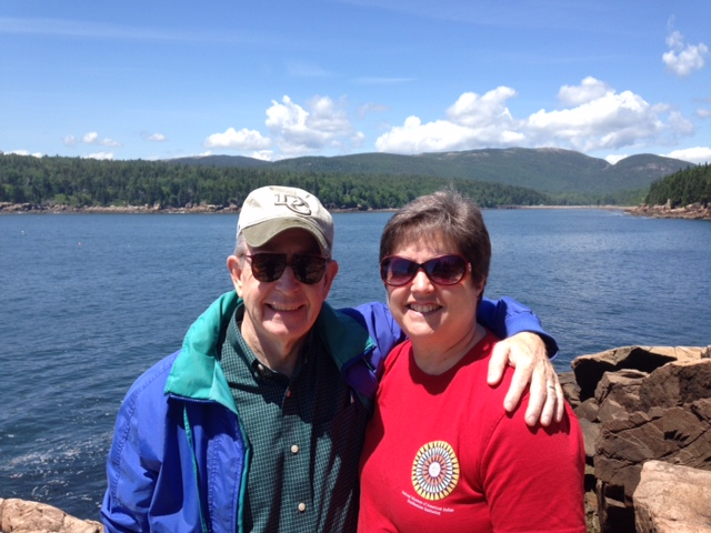 Ellen and Jack Jackson, Otter Cliffs, Acadia