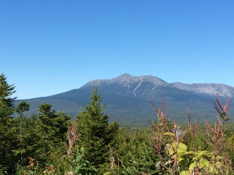 Katahdin as seen from the lookout on the Katahdin Loop Road