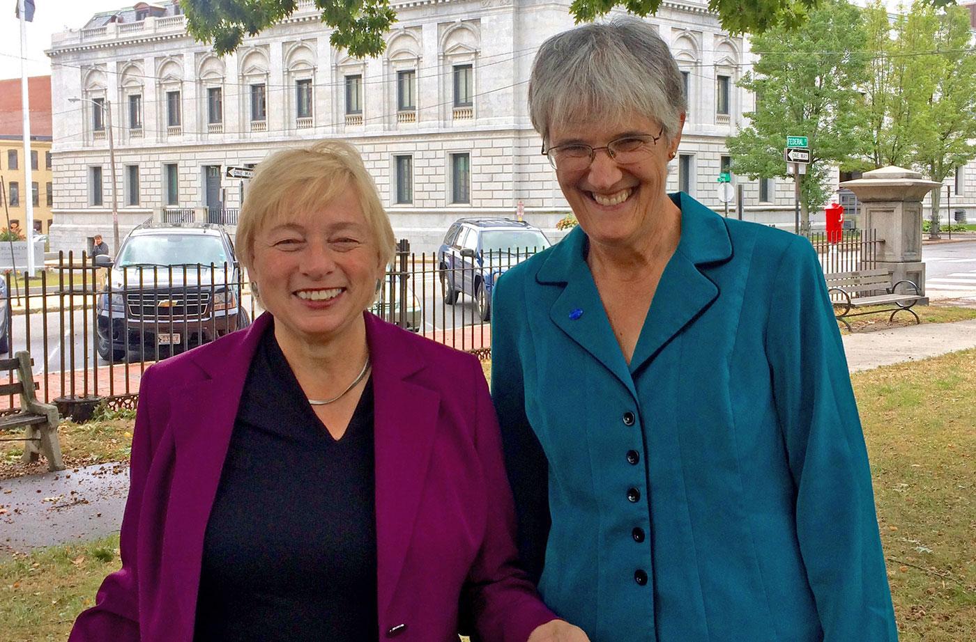 Governor Janet Mills and NRCM CEO Lisa Pohlmann