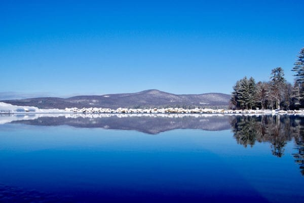 Industry, Maine, Reflection over Clearwater Lake