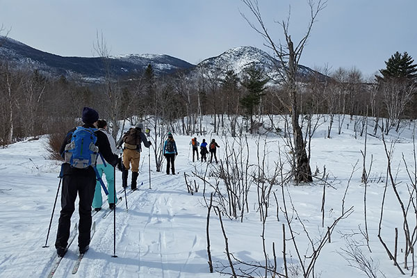 Skiing at Katahdin Woods and Waters National Monument