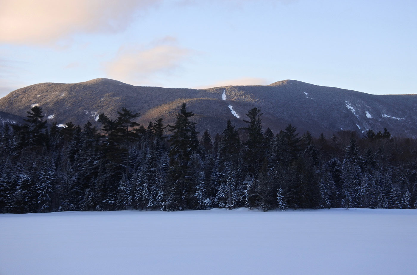 Little Lyford pond and Baker Mountain, 100-Mile Wilderness