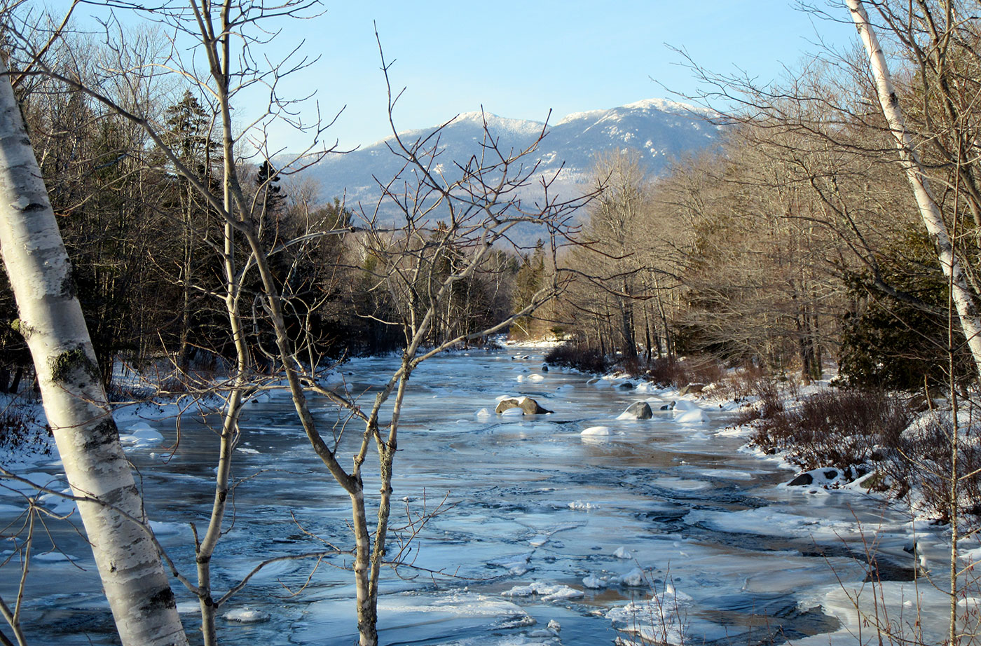Carrabassett Stream by Linda Woods