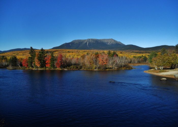 Mount Katahdin viewed from Abol Bridge