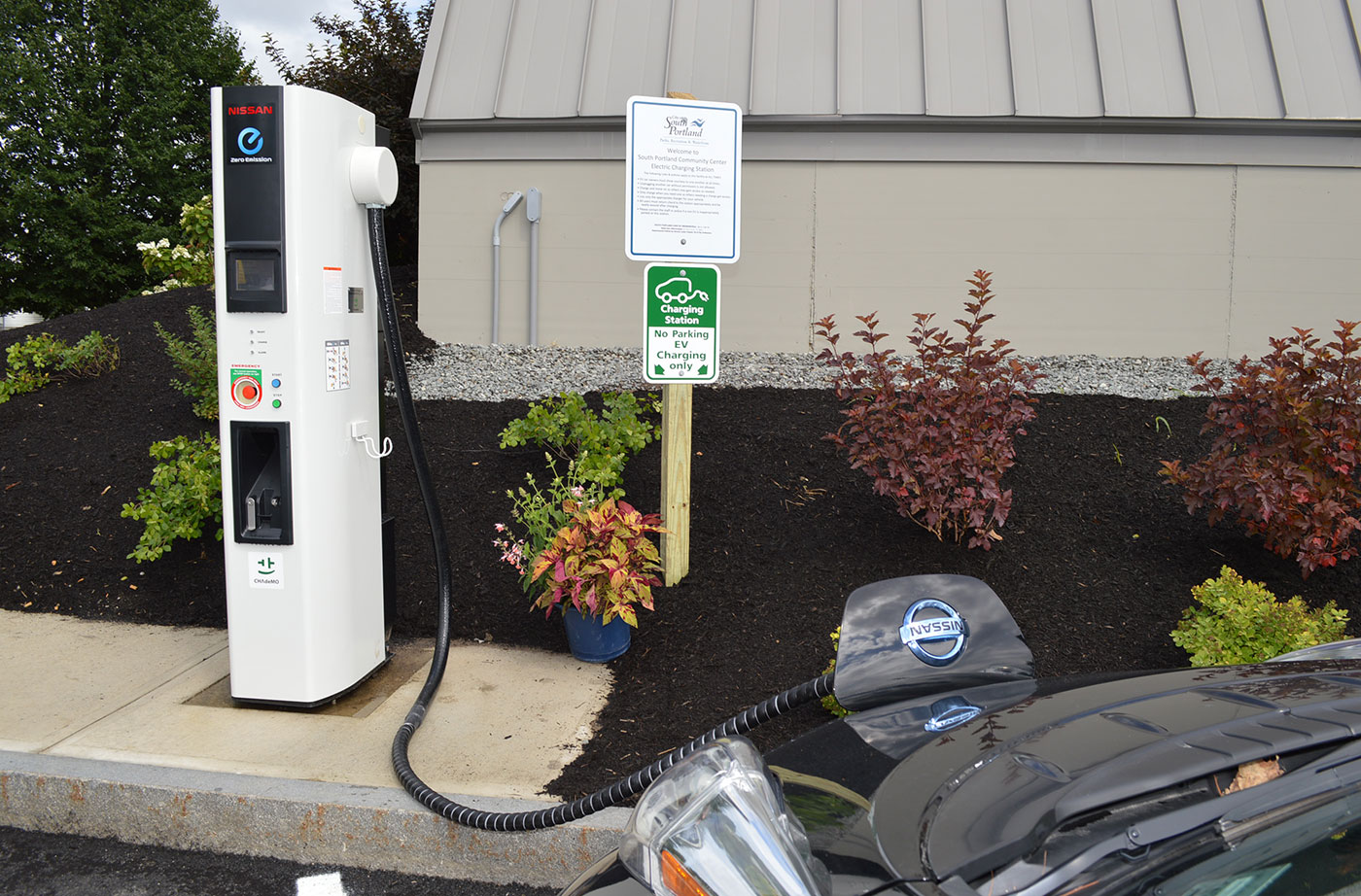 electric vehicle chargers  maine cleaner transportation