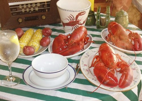 Down Easter lobster dinner