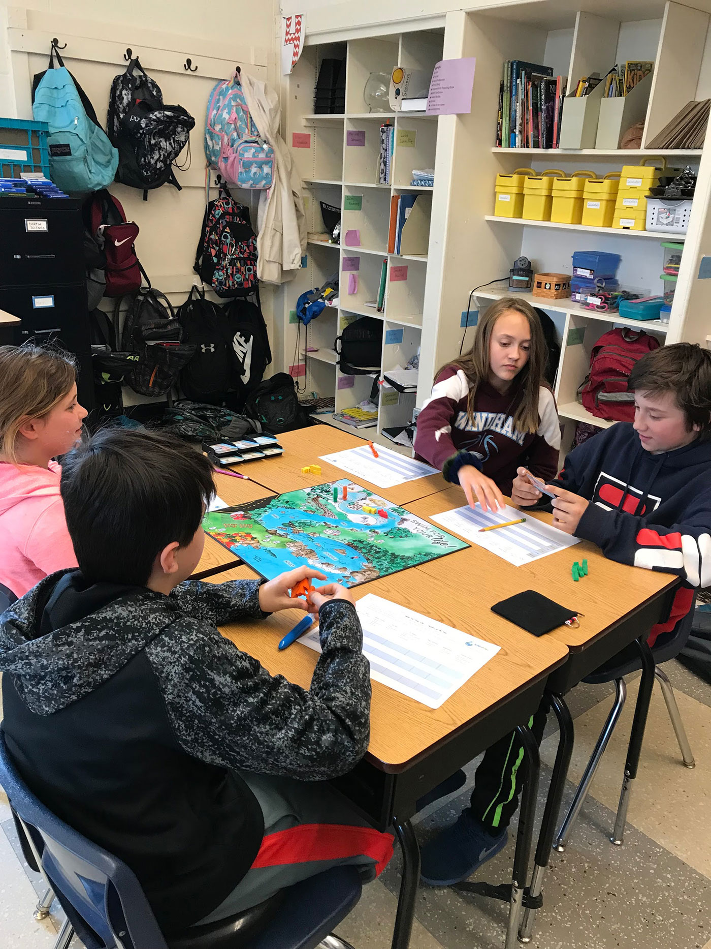 students-play-watershed-game