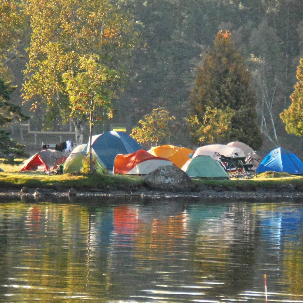 Bike Maine tents Rangeley