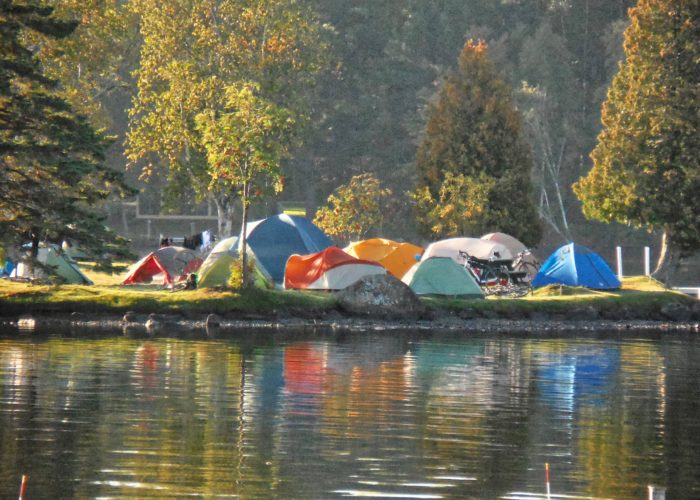 Bike Maine tents Rangeley