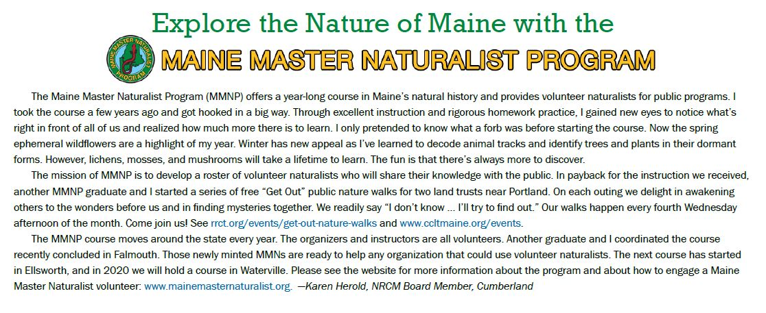 Maine Master Naturalist Program