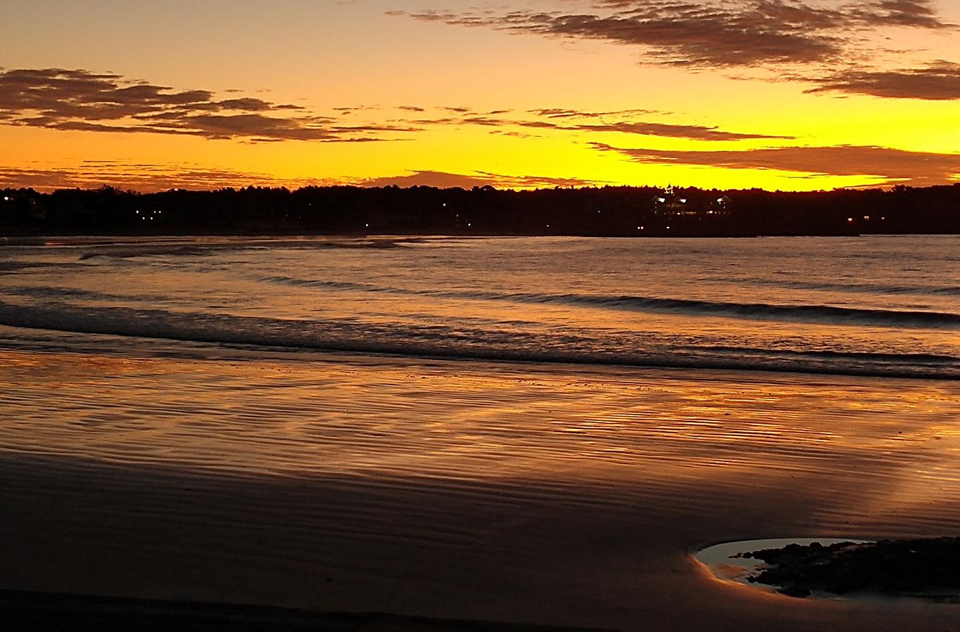 Kennebunk Beach sunrise