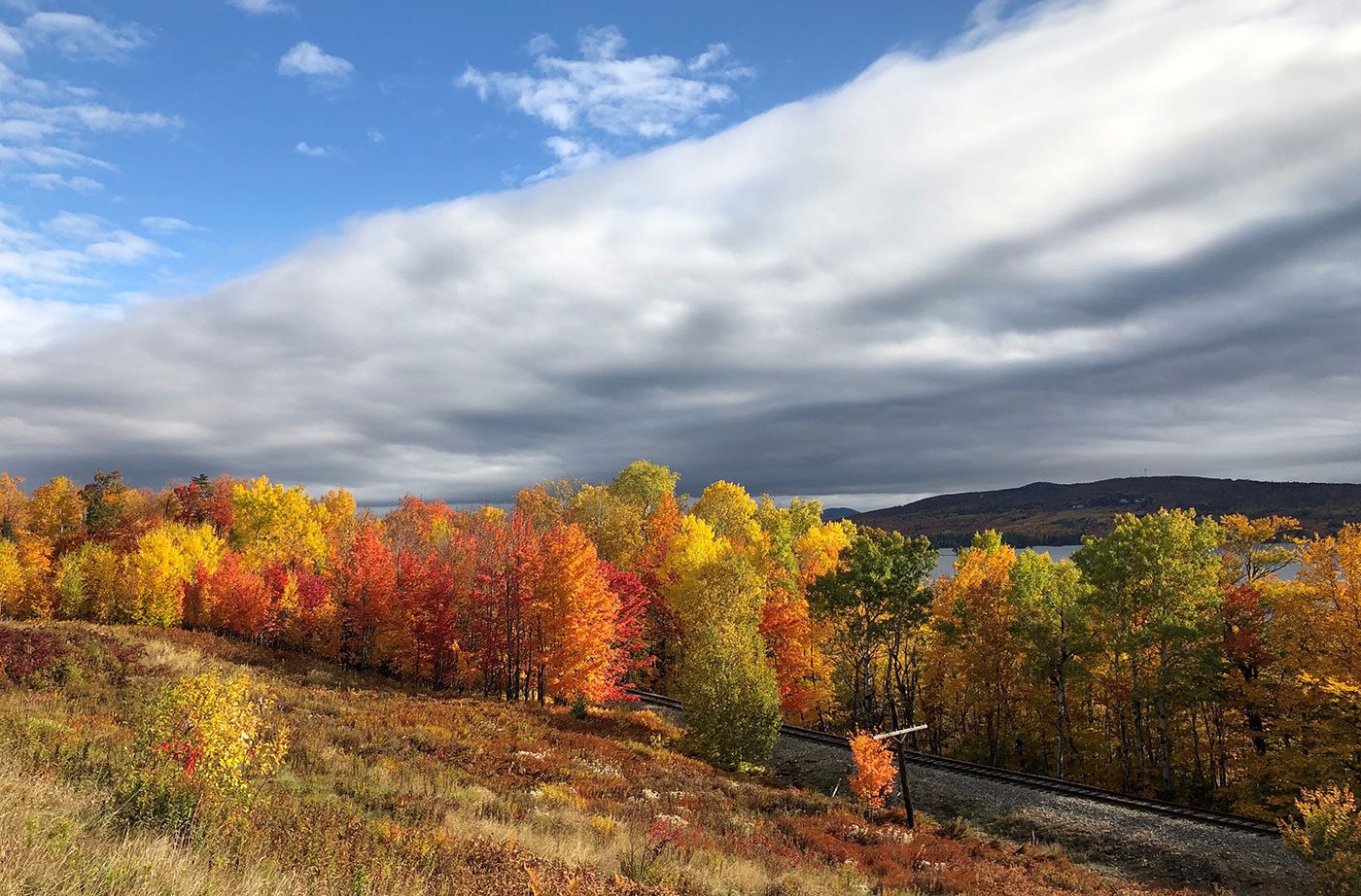 Moosehead Lake fall foliage