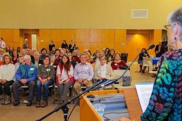 Lisa speaking to 2019 Conservation Leadership Award attendees