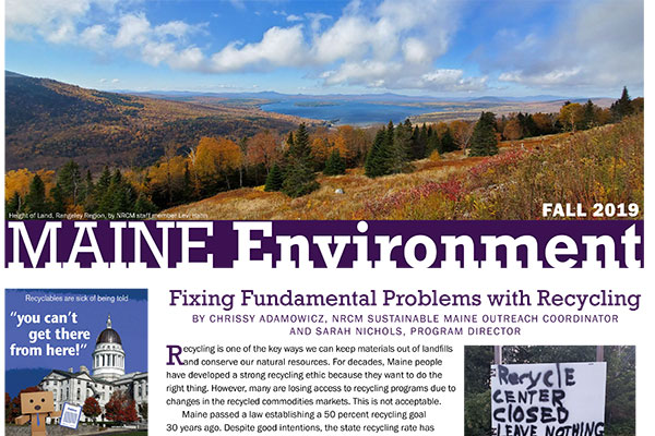 Fall 2019 Maine Environment newsletter