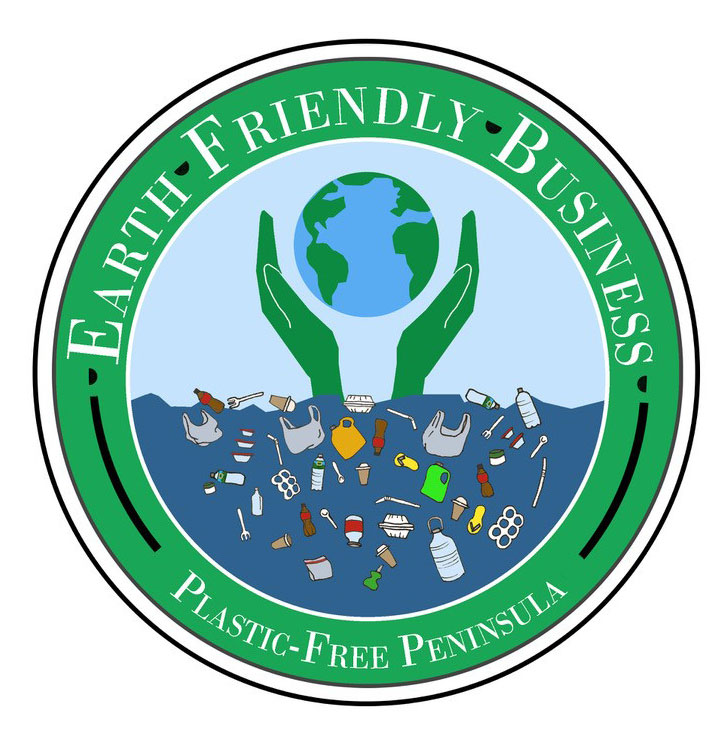 Boothbay plastic-free logo for businesses