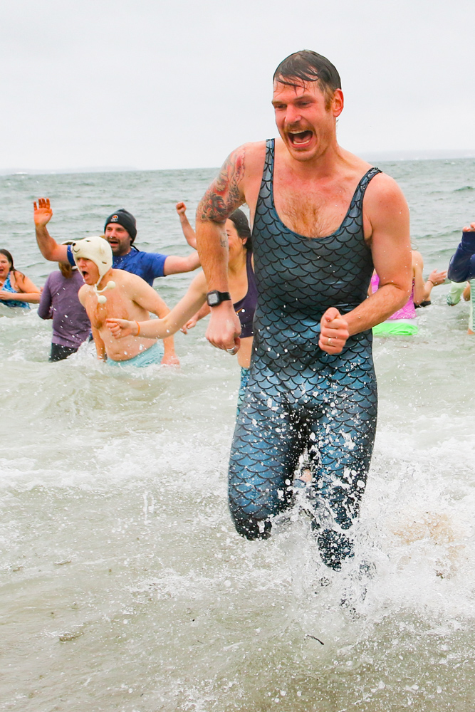 Racing out of water at 2019 Dip & Dash