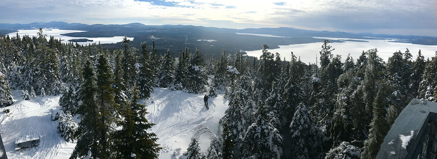Snowy view from Bald Mountain