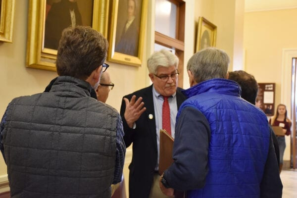 Senator Bob Foley with constituents