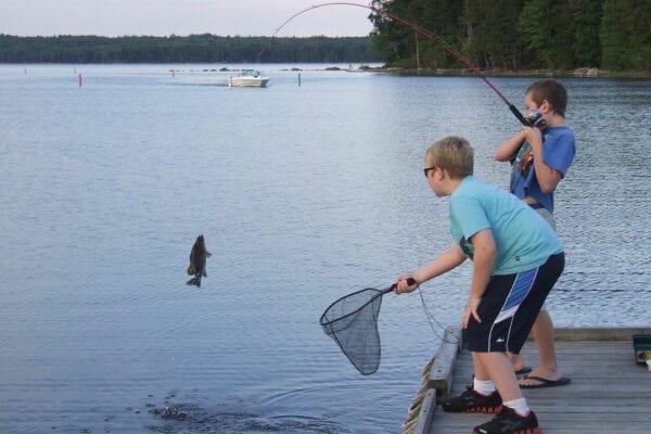 fishing in Gardner Lake