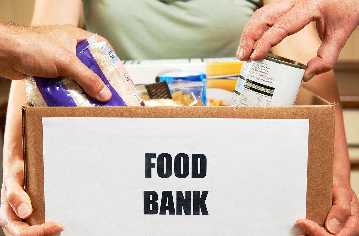 box of food at food bank