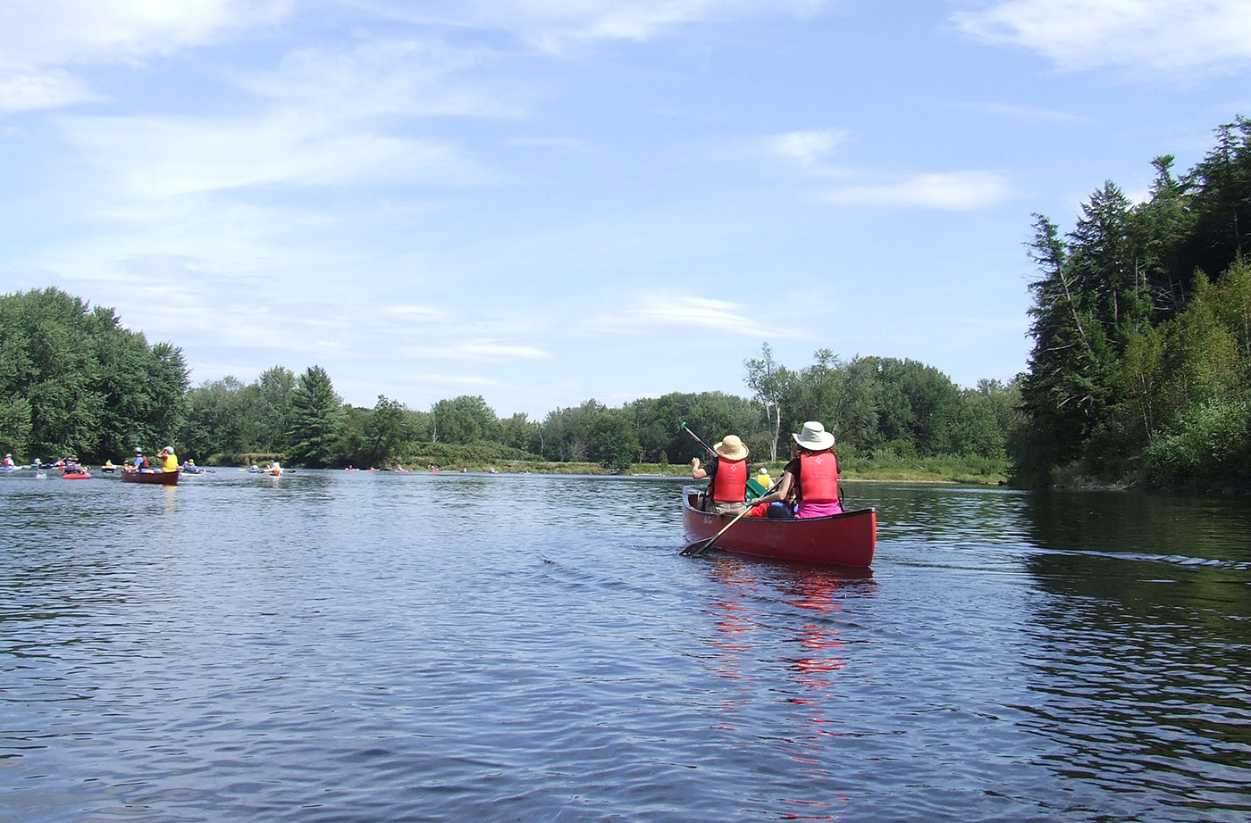 paddlers on the Androscoggin