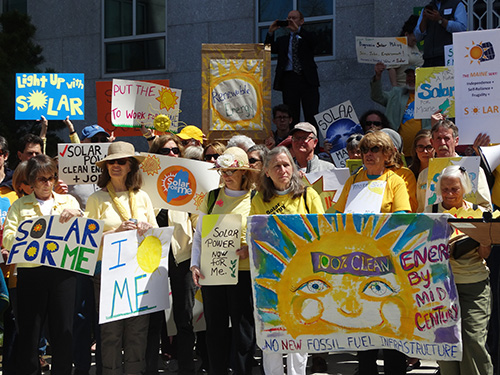 solar rally at State House