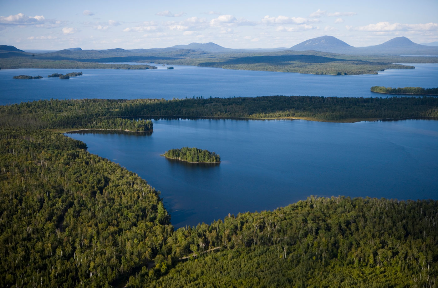 aerial view of Moosehead Lake