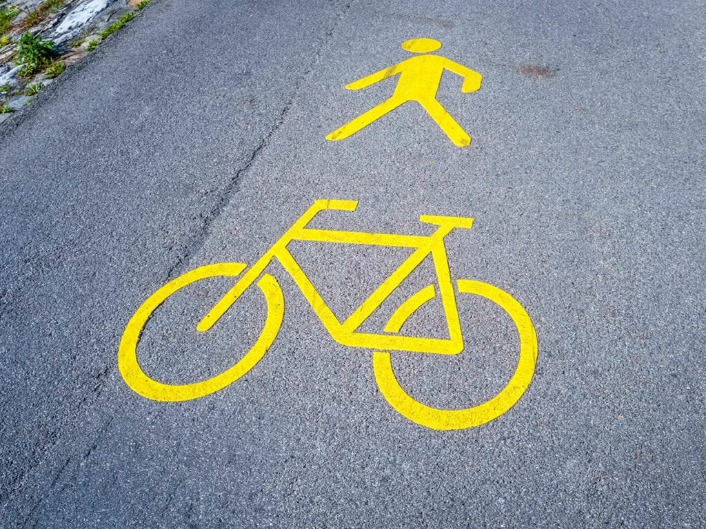 bike and pedestrian crossing