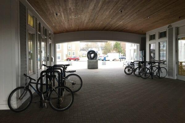 Brunswick bike rack at train and bus station