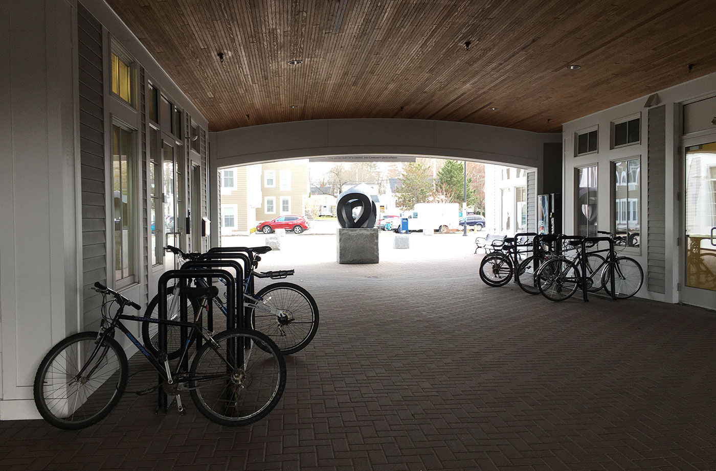 Brunswick bike rack at train and bus station