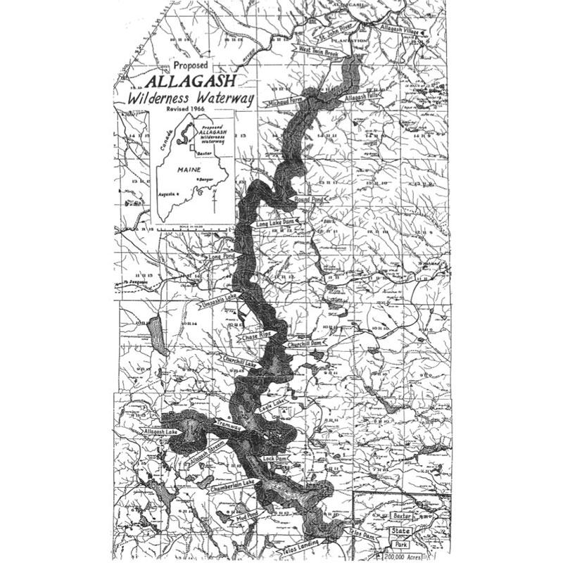 Allagash proposed map 1966