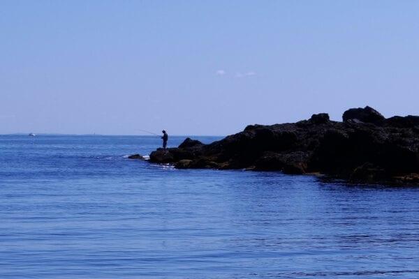 fisherman on Maine coast