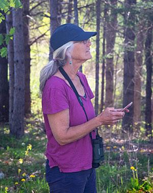 Leslie Burhoe birding