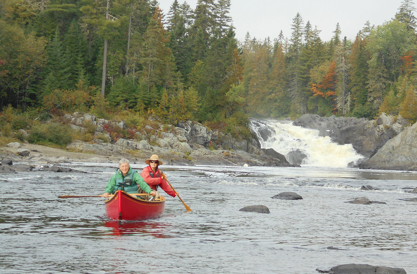canoeing on the Allagash