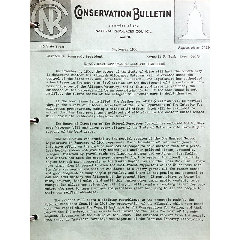 Old NRCM newsletter