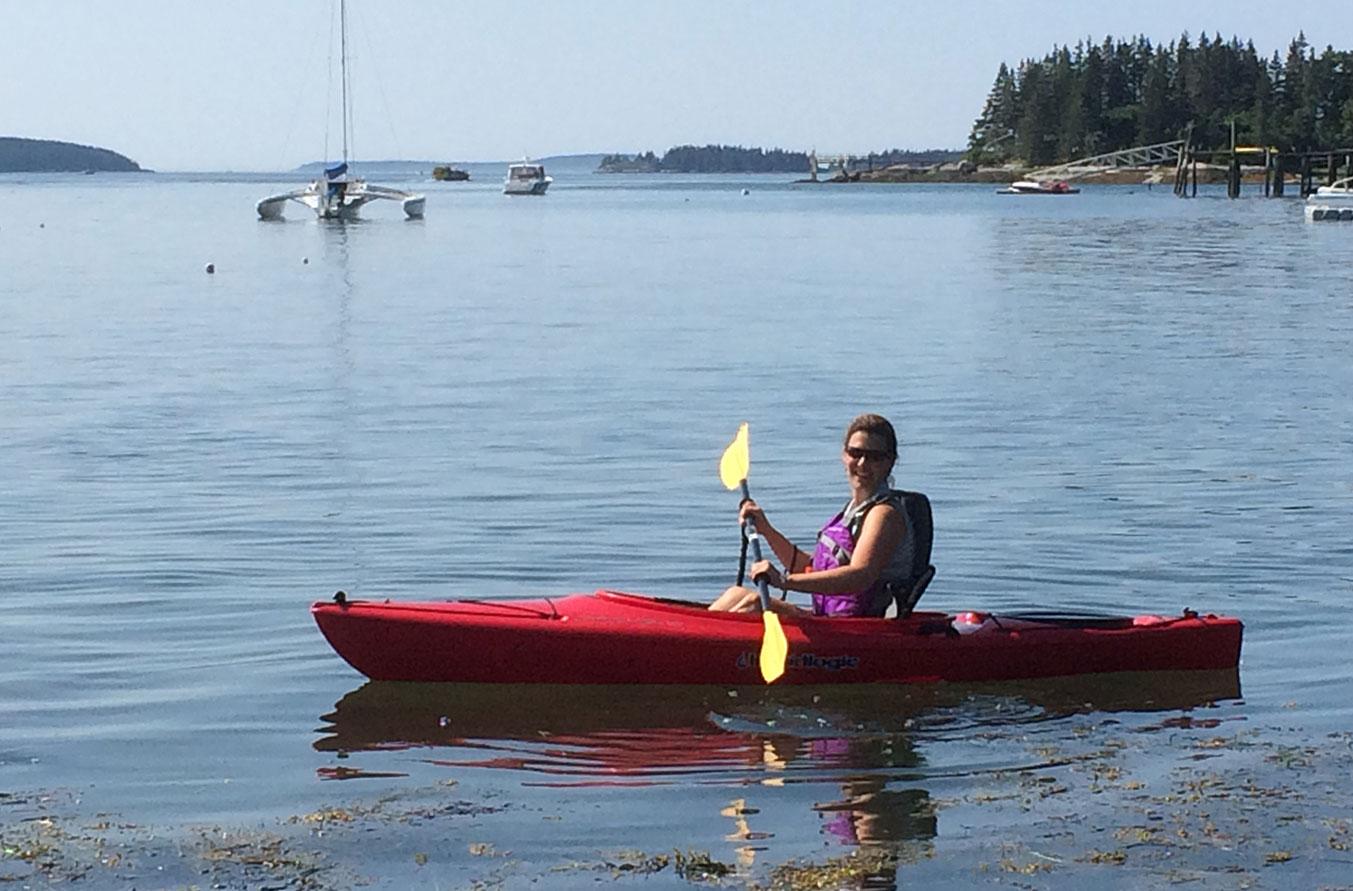 Marlisa kayaking