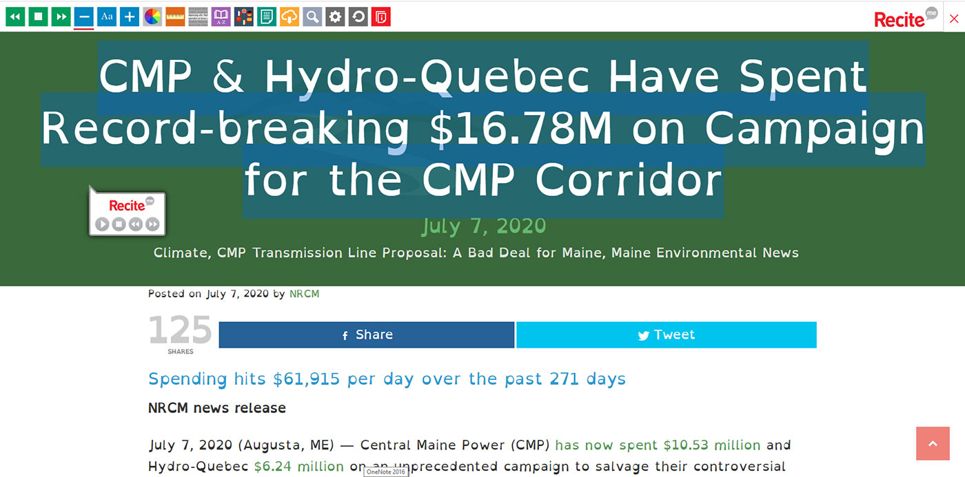 CMP news release with a different, larger font