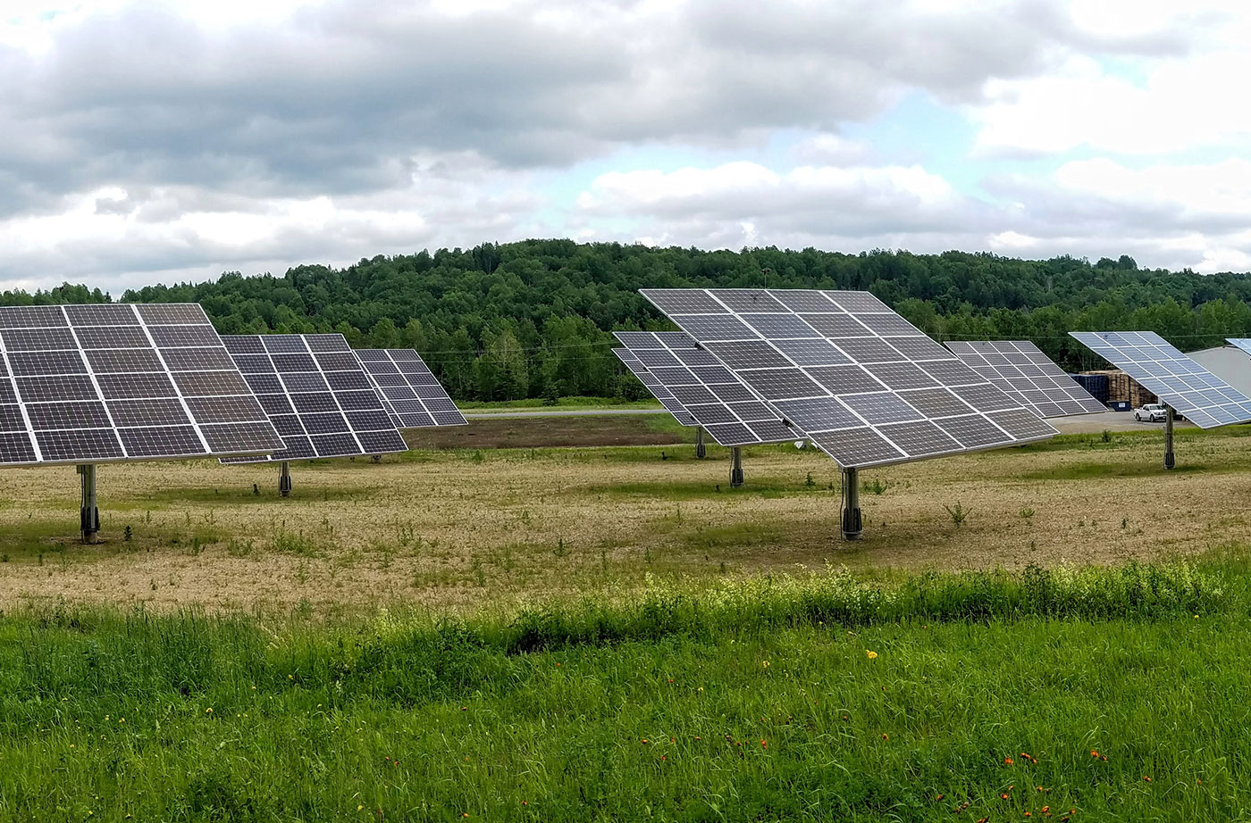 solar panels in Aroostook County