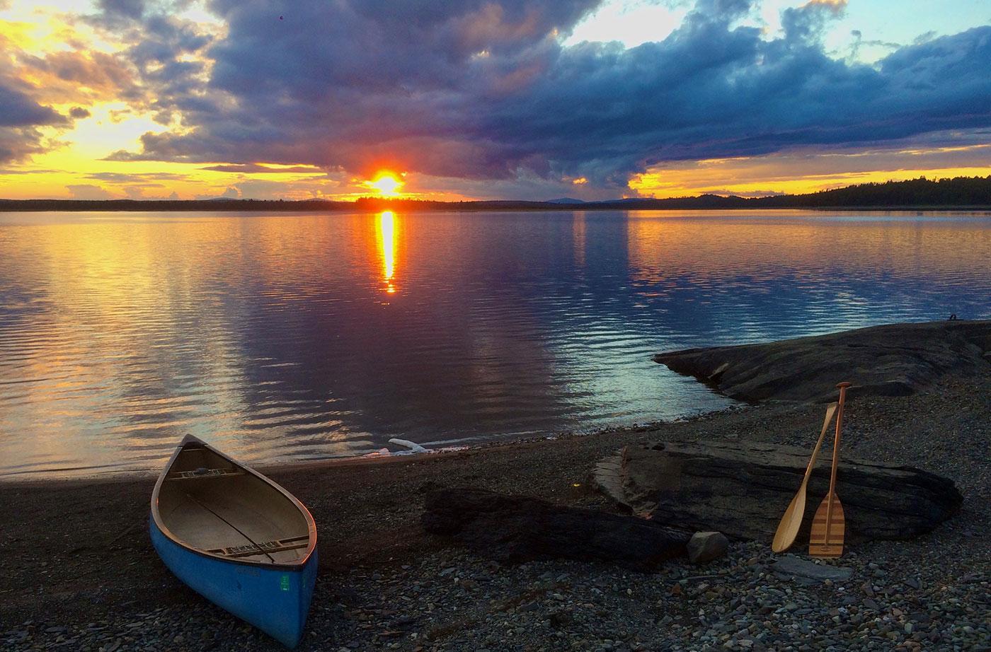 sunset at Chesuncook Lake