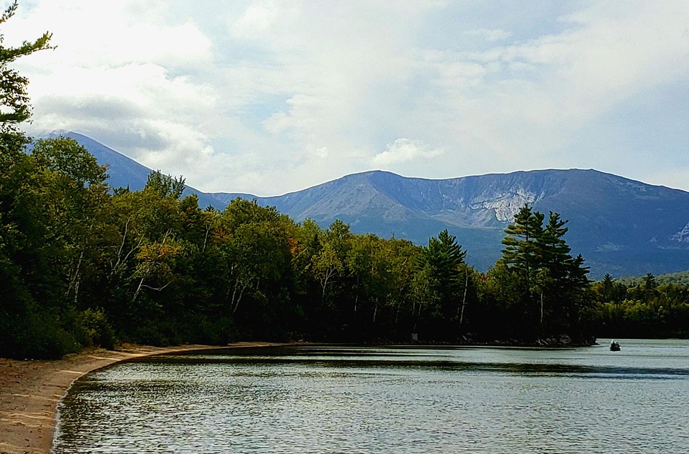 paddling Katahdin Lake