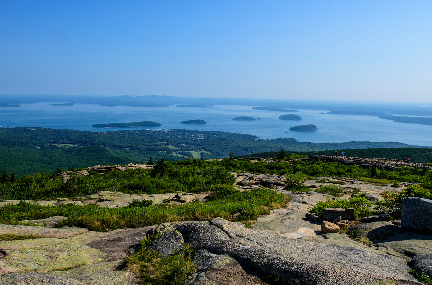 View from top of Cadillac Mountain
