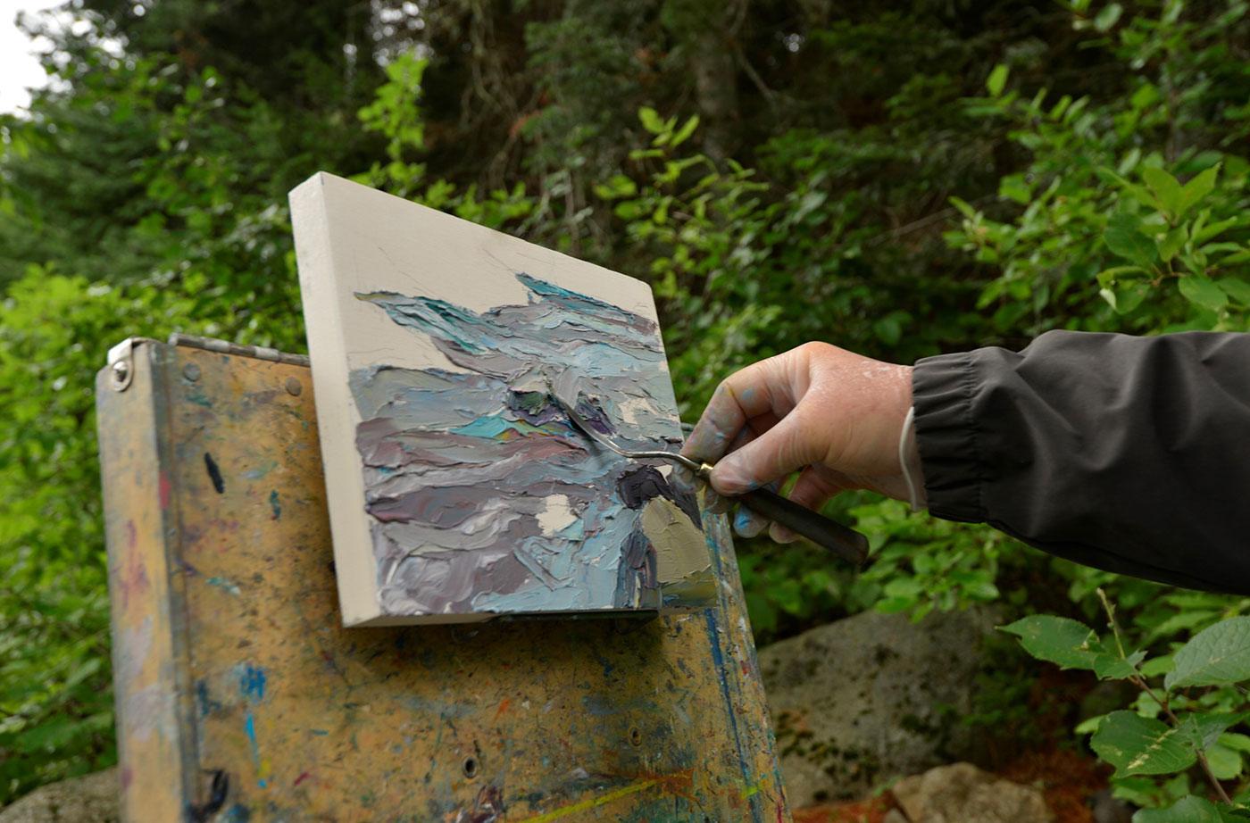 Michael Vermette painting