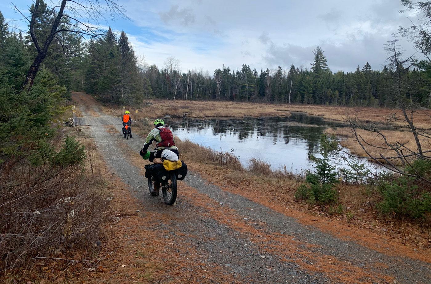 biking in Maine's North Woods