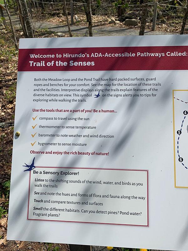 Hirundo Wildlife Refuge trail map