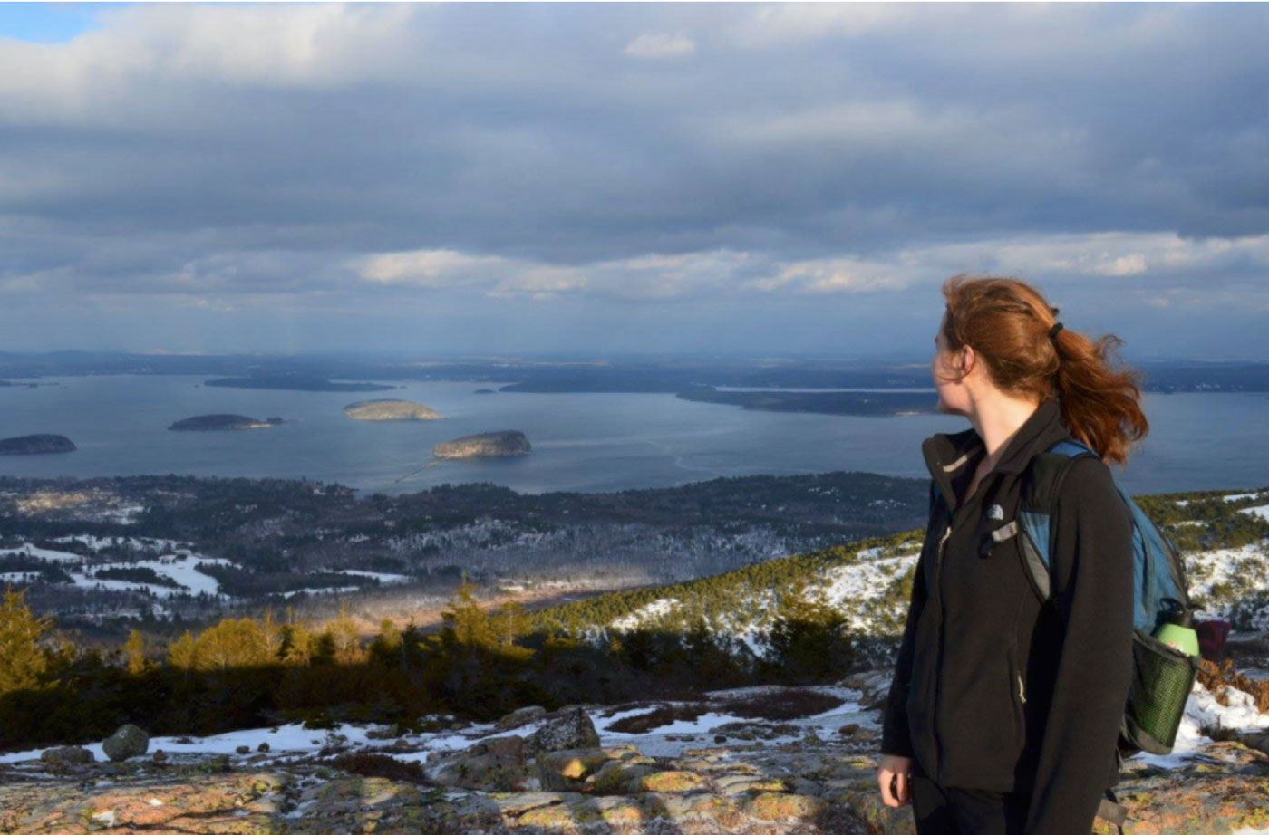Katie at Cadillac Mountain