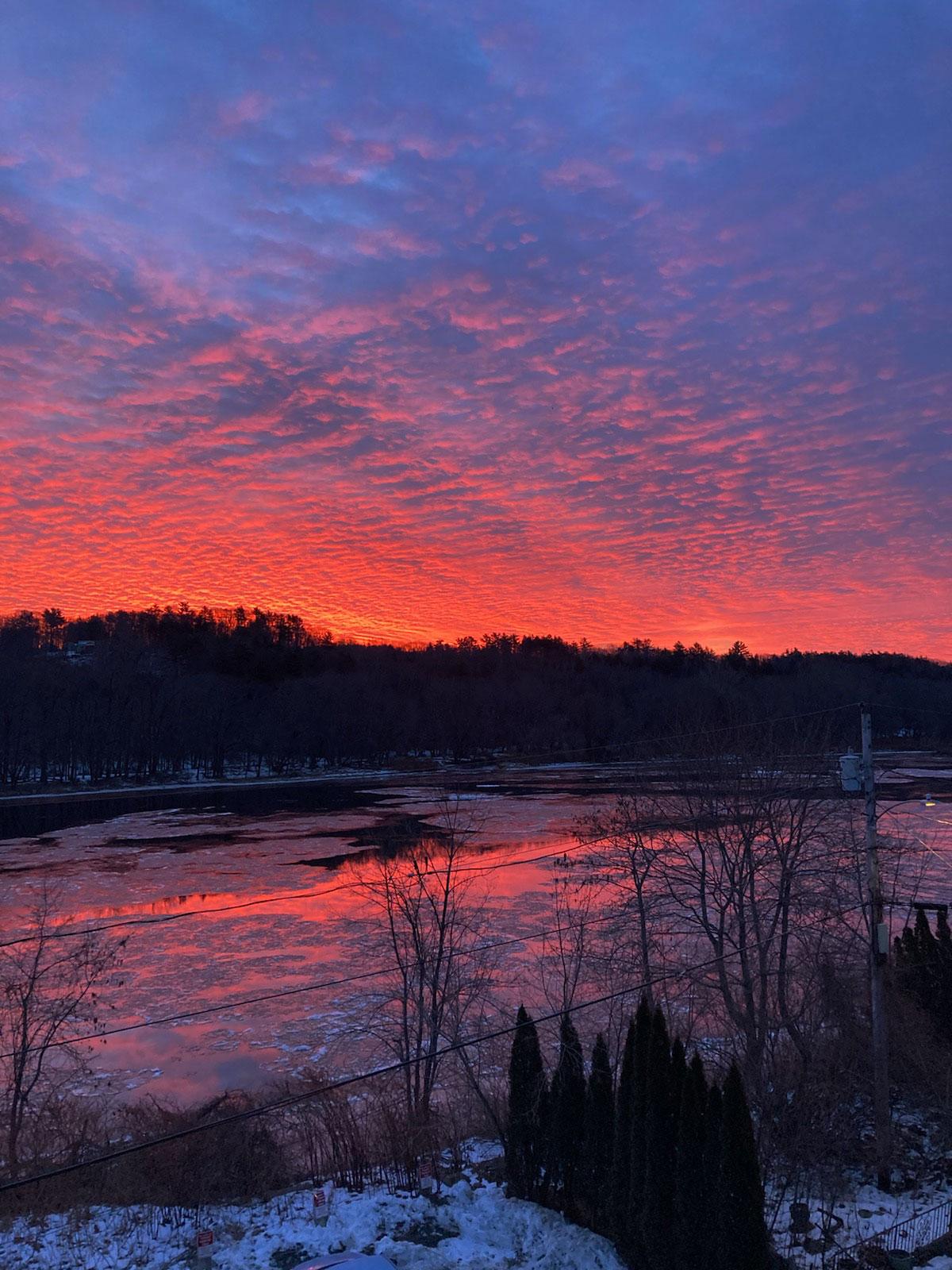 Sunrise over Kennebec River