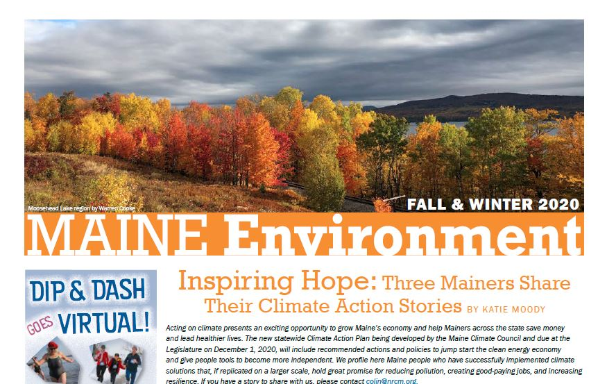 2020 Fall Maine Environment newsletter