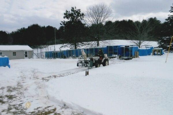 Plowing snow at Duck Pond Wildlife Center