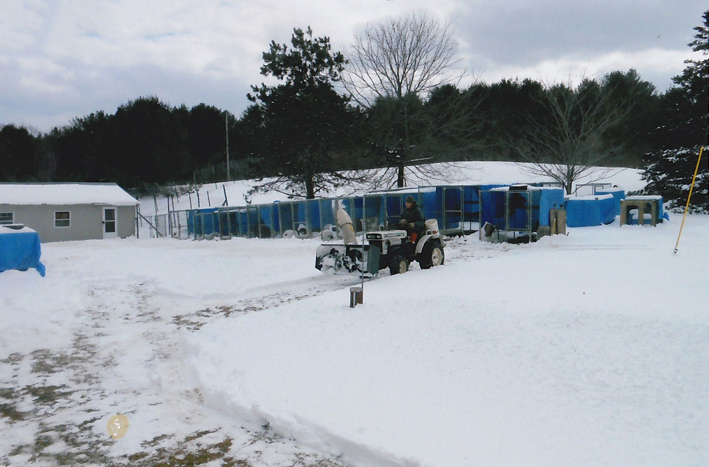 Plowing snow at Duck Pond Wildlife Center